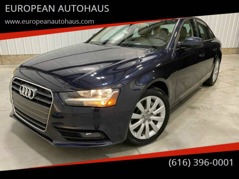 2014 Audi A4 for sale at EUROPEAN AUTOHAUS in Holland MI
