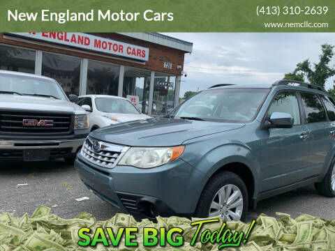 2012 Subaru Forester for sale at New England Motor Cars in Springfield MA