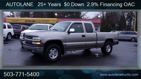 2001 Chevrolet Silverado 1500 for sale at Auto Lane in Portland OR
