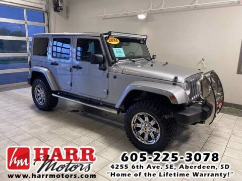 2014 Jeep Wrangler Unlimited for sale at Harr's Redfield Ford in Redfield SD