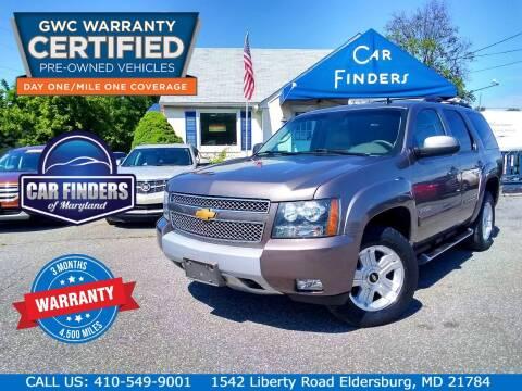 2013 Chevrolet Tahoe for sale at CAR FINDERS OF MARYLAND LLC - Certified Cars in Eldersburg MD