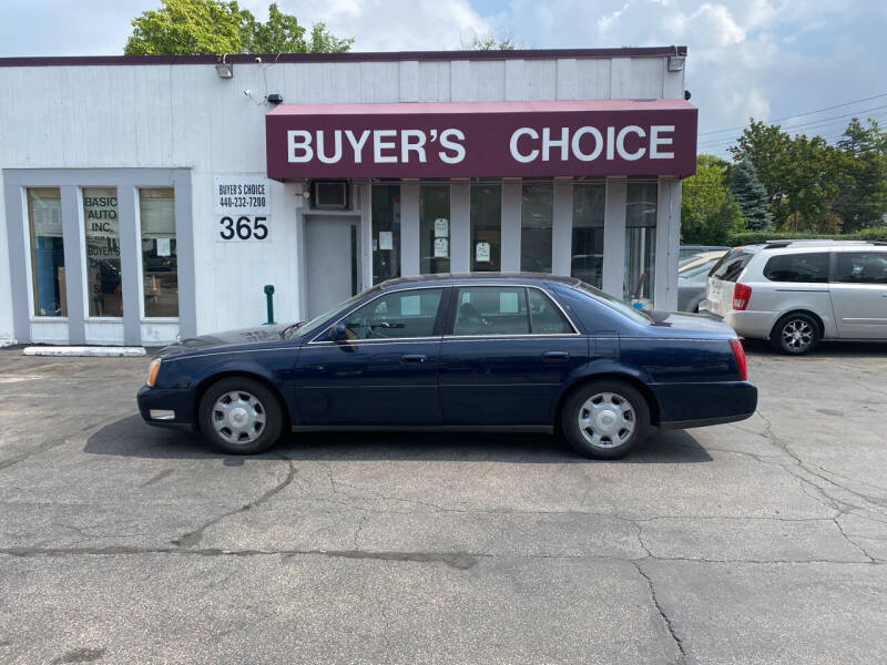 2002 Cadillac DeVille for sale at Buyers Choice Auto Sales in Bedford OH