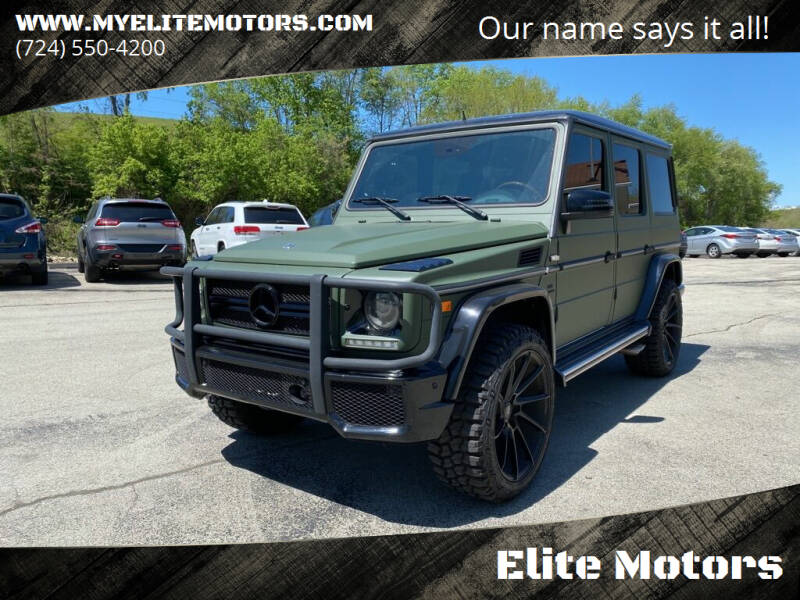2002 Mercedes-Benz G-Class for sale at Elite Motors in Uniontown PA