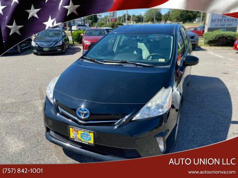 2012 Toyota Prius v for sale at Auto Union LLC in Virginia Beach VA