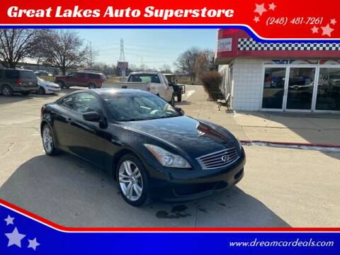 2010 Infiniti G37 Coupe for sale at Great Lakes Auto Superstore in Pontiac MI