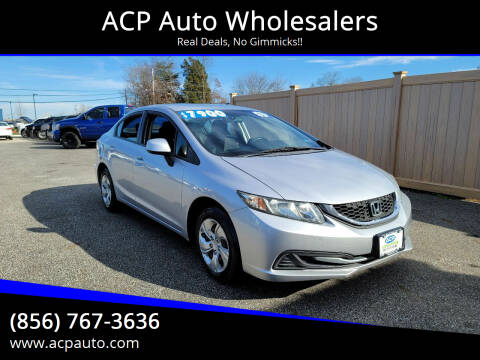 2013 Honda Civic for sale at ACP Auto Wholesalers in Berlin NJ