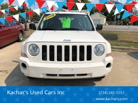 2008 Jeep Patriot for sale at Kachar's Used Cars Inc in Monroe MI