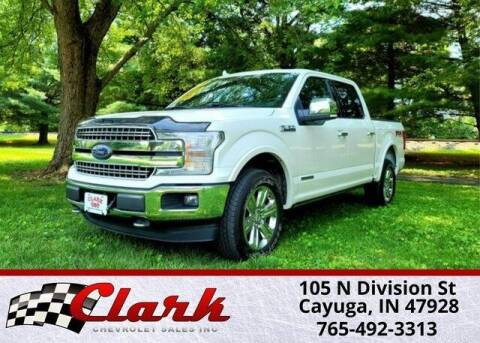 2018 Ford F-150 for sale at Clark Chevrolet in Cayuga IN