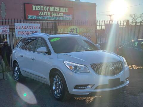 2016 Buick Enclave for sale at Best of Michigan Auto Sales in Detroit MI