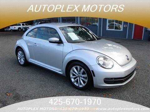 2013 Volkswagen Beetle for sale at Autoplex Motors in Lynnwood WA