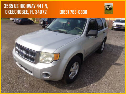 2008 Ford Escape for sale at M & M AUTO BROKERS INC in Okeechobee FL
