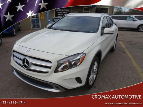 2017 Mercedes-Benz GLA for sale at Cromax Automotive in Ann Arbor MI