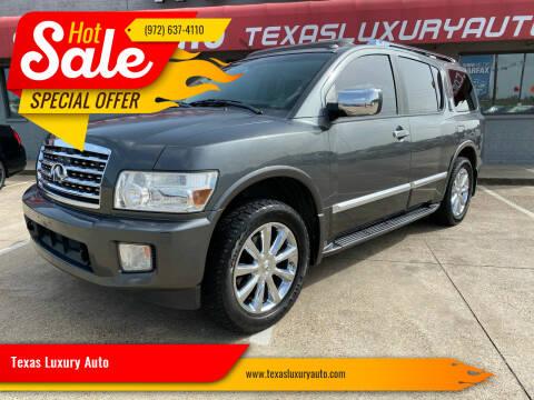 2009 Infiniti QX56 for sale at Texas Luxury Auto in Cedar Hill TX