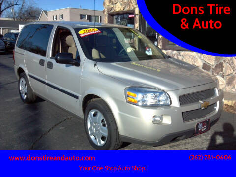 2008 Chevrolet Uplander for sale at Dons Tire & Auto in Butler WI