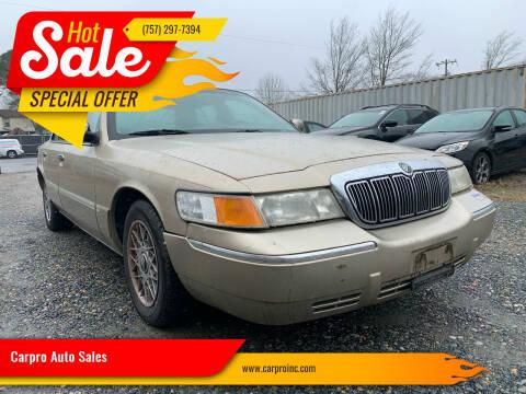2000 Mercury Grand Marquis for sale at Carpro Auto Sales in Chesapeake VA