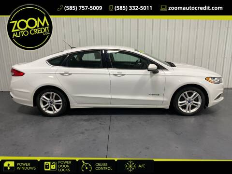 2018 Ford Fusion Hybrid for sale at ZoomAutoCredit.com in Elba NY