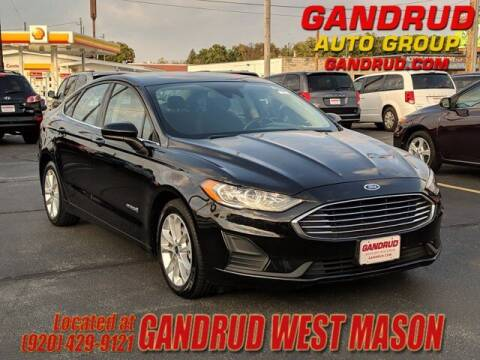 2019 Ford Fusion Hybrid for sale at GANDRUD CHEVROLET in Green Bay WI