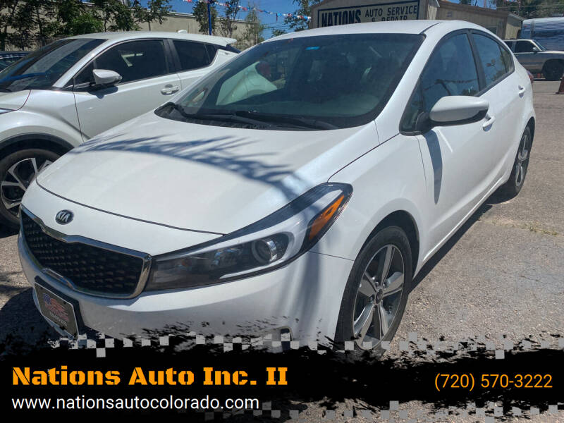 2018 Kia Forte for sale at Nations Auto Inc. II in Denver CO