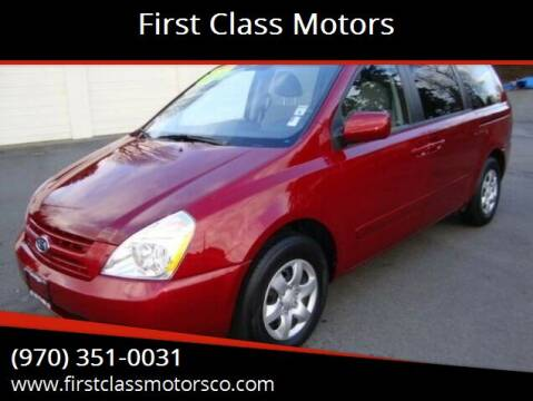 2009 Kia Sedona for sale at First Class Motors in Greeley CO