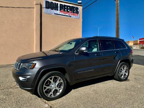 2018 Jeep Grand Cherokee for sale at Don Reeves Auto Center in Farmington NM