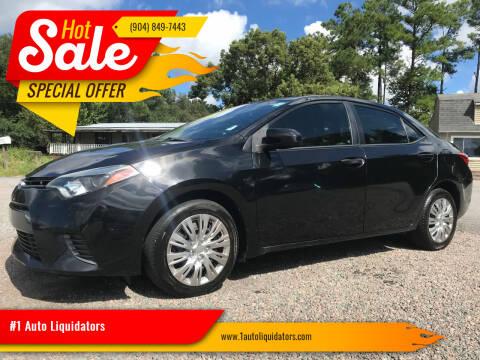 2016 Toyota Corolla for sale at #1 Auto Liquidators in Yulee FL