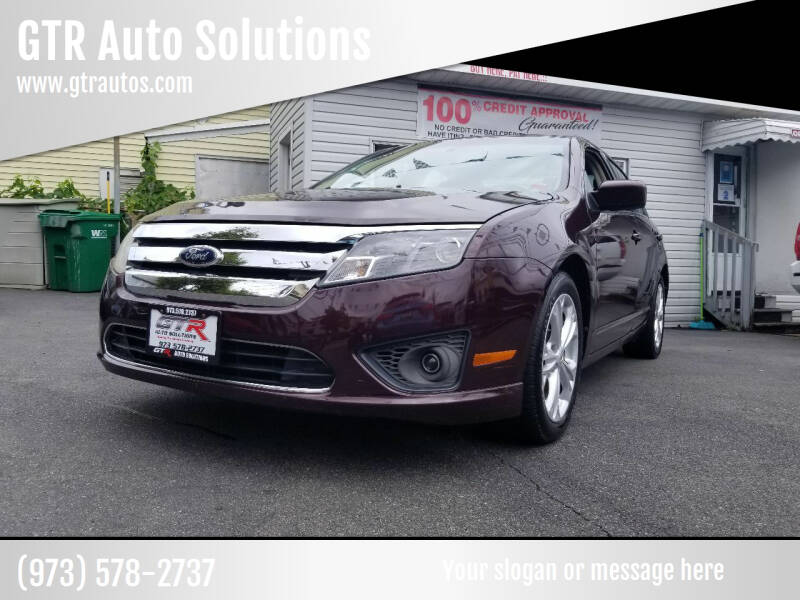 2012 Ford Fusion for sale at GTR Auto Solutions in Newark NJ