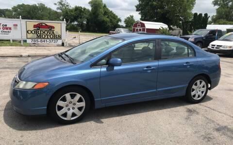 2008 Honda Civic for sale at Cordova Motors in Lawrence KS
