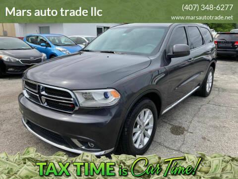 2015 Dodge Durango for sale at Mars auto trade llc in Kissimmee FL