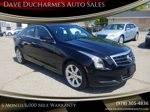 2014 Cadillac ATS for sale at Dave Ducharme's Auto Sales in Lowell MA