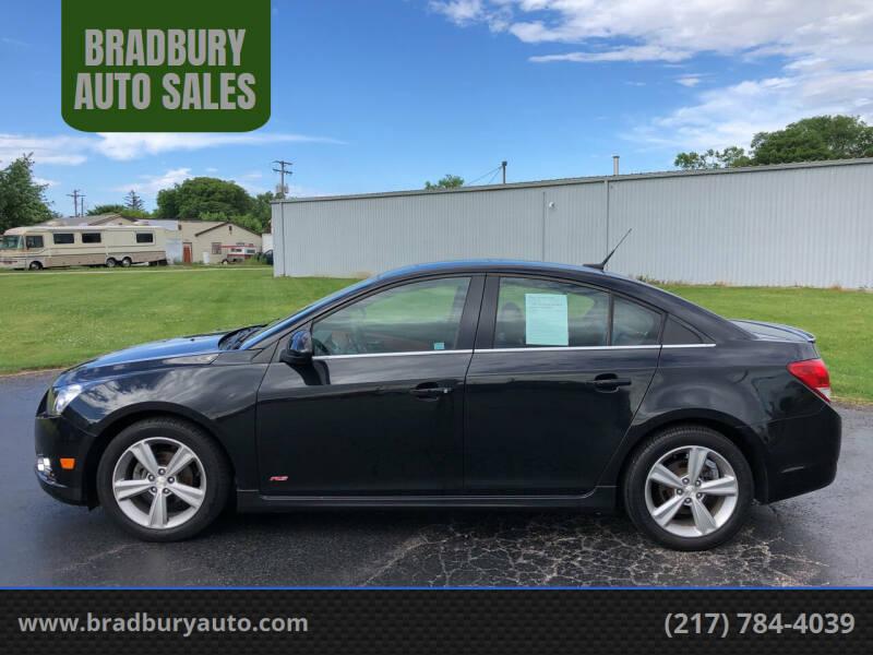 2014 Chevrolet Cruze for sale at BRADBURY AUTO SALES in Gibson City IL