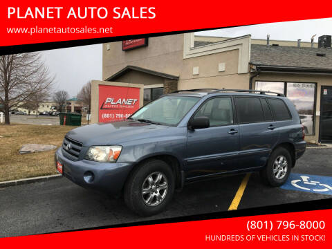 2005 Toyota Highlander for sale at PLANET AUTO SALES in Lindon UT