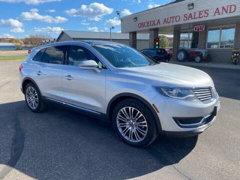 2016 Lincoln MKX for sale at Osceola Auto Sales and Service in Osceola WI