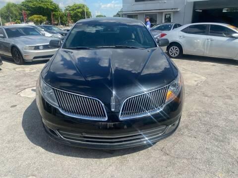 2013 Lincoln MKS for sale at America Auto Wholesale Inc in Miami FL