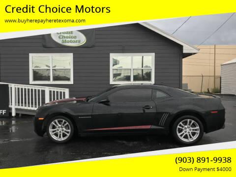 2011 Chevrolet Camaro for sale at Credit Choice Motors in Sherman TX
