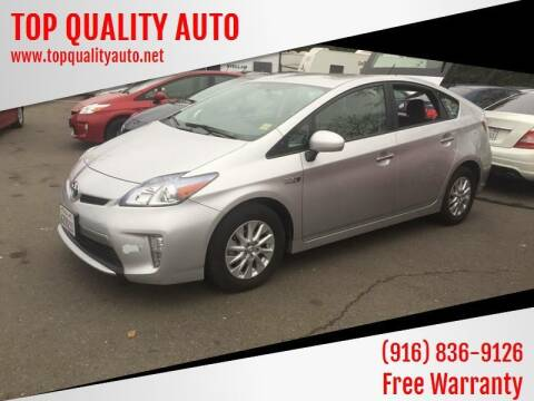 2013 Toyota Prius Plug-in Hybrid for sale at TOP QUALITY AUTO in Rancho Cordova CA