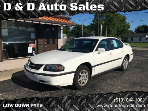 2003 Chevrolet Impala for sale at D & D Auto Sales in Hamilton OH