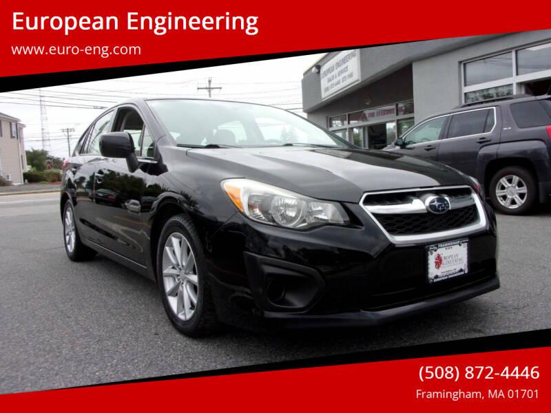 2012 Subaru Impreza for sale at European Engineering in Framingham MA