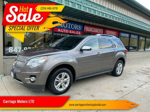 2012 Chevrolet Equinox for sale at Carriage Motors LTD in Ingleside IL