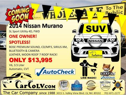 2014 Nissan Murano for sale at The Car Company in Las Vegas NV