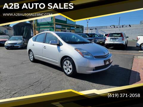 2008 Toyota Prius for sale at A2B AUTO SALES in Chula Vista CA
