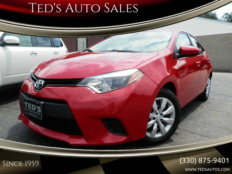 2014 Toyota Corolla for sale at Ted's Auto Sales in Louisville OH