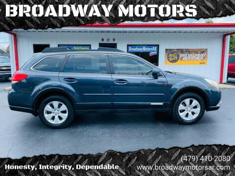 2011 Subaru Outback for sale at BROADWAY MOTORS in Van Buren AR
