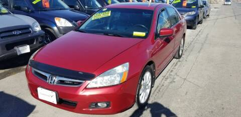 2007 Honda Accord for sale at Howe's Auto Sales in Lowell MA