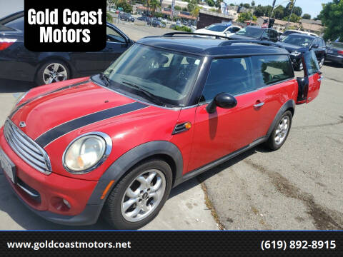 2011 MINI Cooper Clubman for sale at Gold Coast Motors in Lemon Grove CA