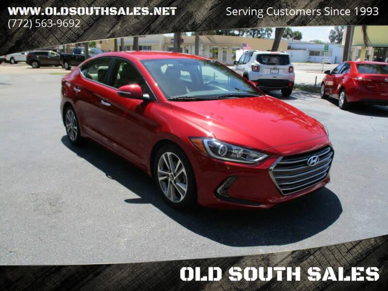 2017 Hyundai Elantra for sale at OLD SOUTH SALES in Vero Beach FL