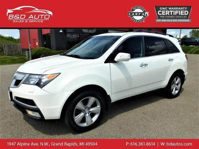 2010 Acura MDX for sale at B&D Auto Sales Inc in Grand Rapids MI
