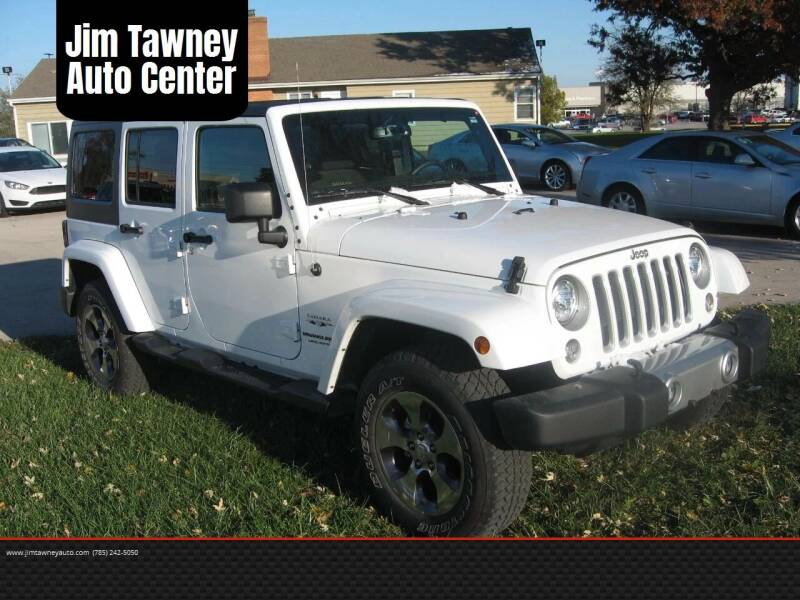 2018 Jeep Wrangler Unlimited for sale at Jim Tawney Auto Center Inc in Ottawa KS