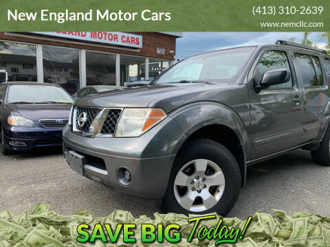 2007 Nissan Pathfinder for sale at New England Motor Cars in Springfield MA