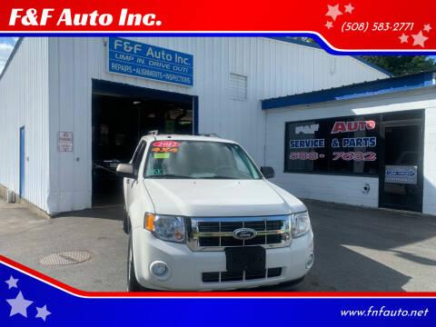 2012 Ford Escape for sale at F&F Auto Inc. in West Bridgewater MA