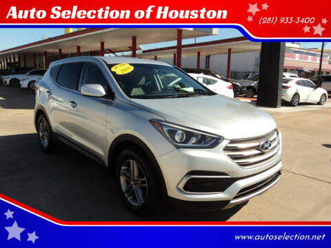 2018 Hyundai Santa Fe Sport for sale at Auto Selection of Houston in Houston TX